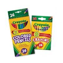 COMBO Bộ bút sáp 24 màu - Bút chì 24 màu dạng dài