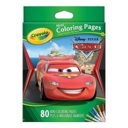 Bộ bút giấy tô màuhình xe hơi(6 bút lông mini, vở tô màu 80