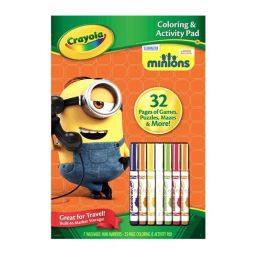 Bộ bút giấy tô màu và câu đố hình Minions (7 bút lông tẩy r