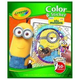 Bộ giấy tô màu và hình dán Minions