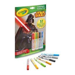 Bộ bút giấy tô màu và câu đố hình Star Wars (7 bút lông tẩy