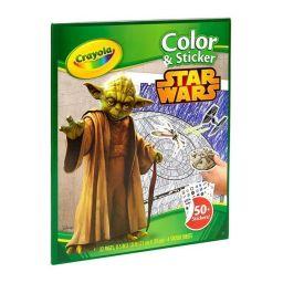 Bộ giấy tô màu và hình dán Star Wars (32 trang giấy tô màu,
