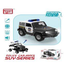 Mô hình lắp ráp DIY - Xe Jeep cảnh sát