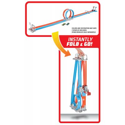 Đường đua xoắn kép siêu tốc xếp gọn Hot Wheels
