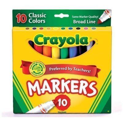 Bút lông nét dày 10 màu