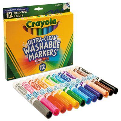Bút lông nét dày 12 màu(có thể tẩy rửa được)