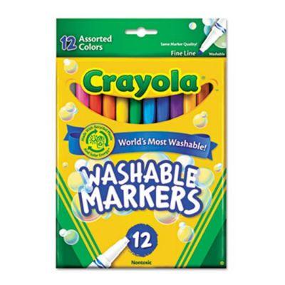 Bút lông 12 màu nét mảnh (tẩy rửa được)