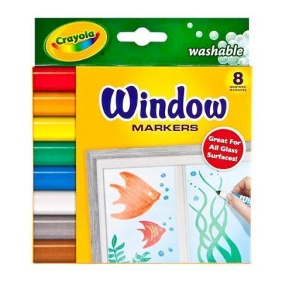 Bút lông 8 màu vẽ được lên mặt kính có thể tẩy rửa được