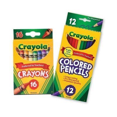 COMBO Bút sáp 16 màu - Bút chì 12 màu dạng dài