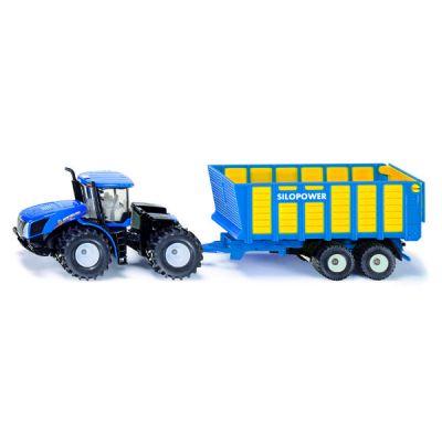 Đầu kéo và thùng thức ăn gia súc