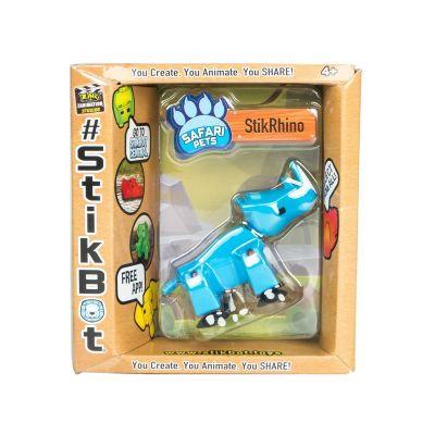 Stikbot safari-tê giác-xanh da trời