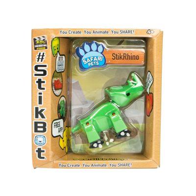Stikbot safari-tê giác-xanh lá cây