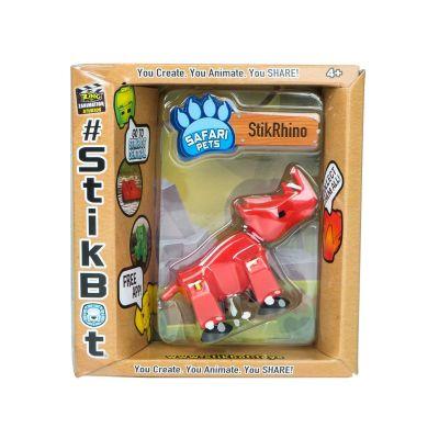 Stikbot safari-tê giác-đỏ