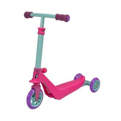 Xe trượt 3 màu hồng xanh cổ vịt tím 2 trong 1