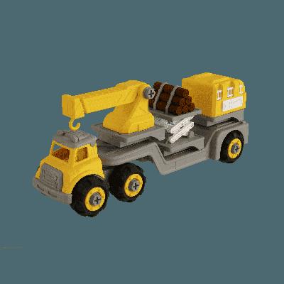 Bộ đồ chơi lắp ráp Vecto DIY 3 trong 1 - Xe cẩu, xe chở gỗ,