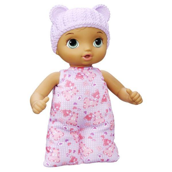 Em bé Sarina nón trắng
