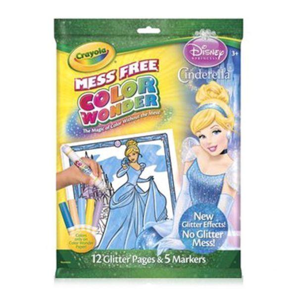 Bộ tô màu hình công chúa Disney (7 bút lông, 32 trang giấy